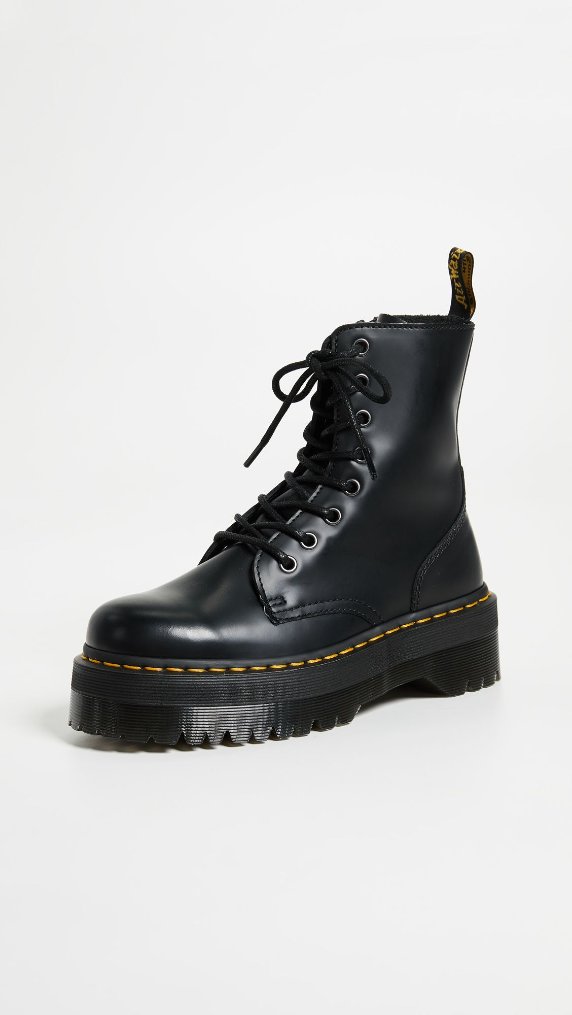 Jadon 8 Eye Boots by Dr. Martens, available on shopbop.com for $170 Bella Hadid Shoes Exact Product