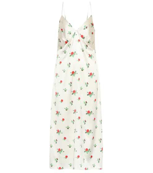 June floral silk-satin slip dress by Bernadette, available on mytheresa.com for EUR303 Bella Hadid Dress SIMILAR PRODUCT