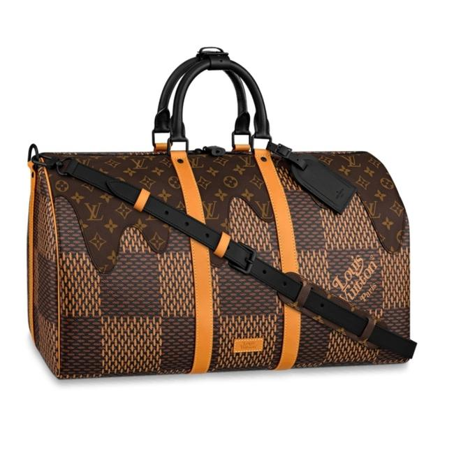 Keepall Lv2 Ebene Damier Print 50 Bandouliere Duffle Bag by Louis Vuitton, available on tradesy.com for $6990.5 Bella Hadid Bags Exact Product