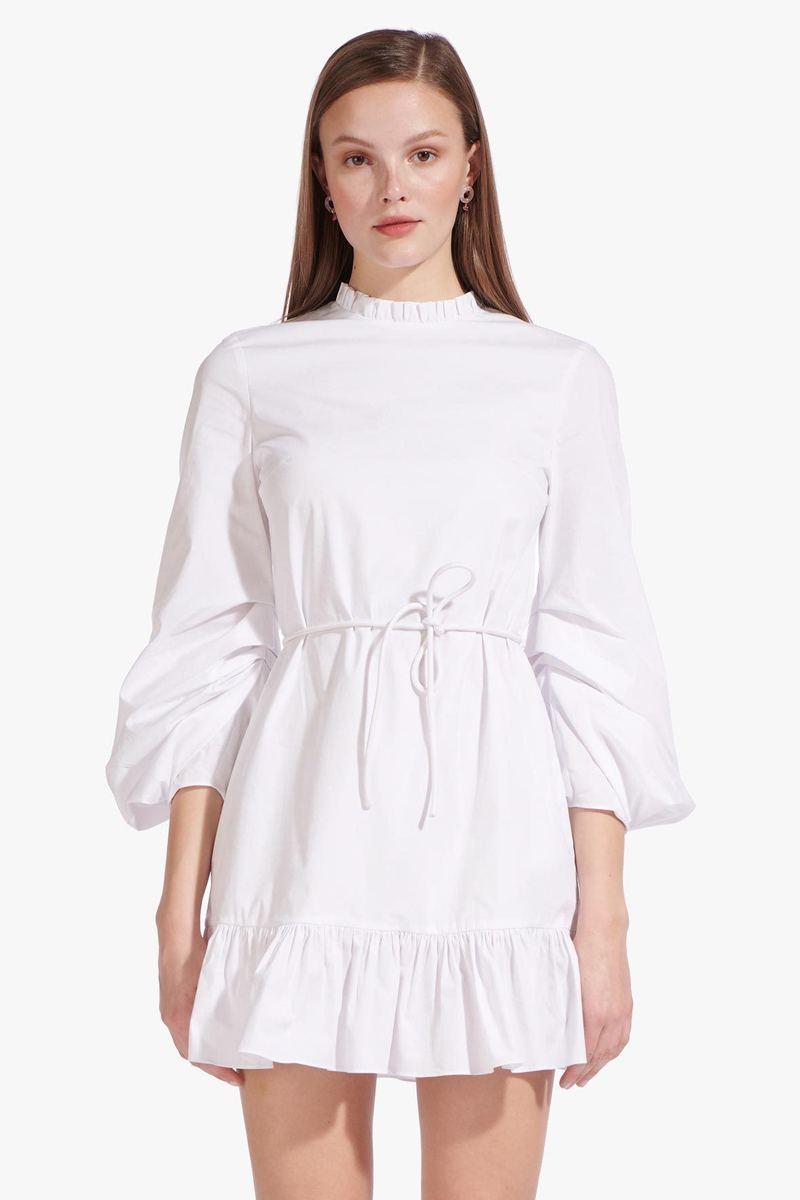 LONGSLEEVE CAROLINA DRESS  WHITE by Staud for $172 Bella Hadid Dress SIMILAR PRODUCT