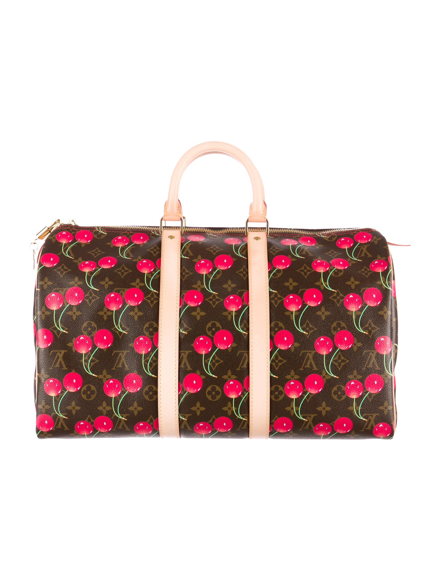 Monogram Cerises Keepall 45 Bag by Louis Vuitton, available on therealreal.com for $1595 Bella Hadid Bags Exact Product