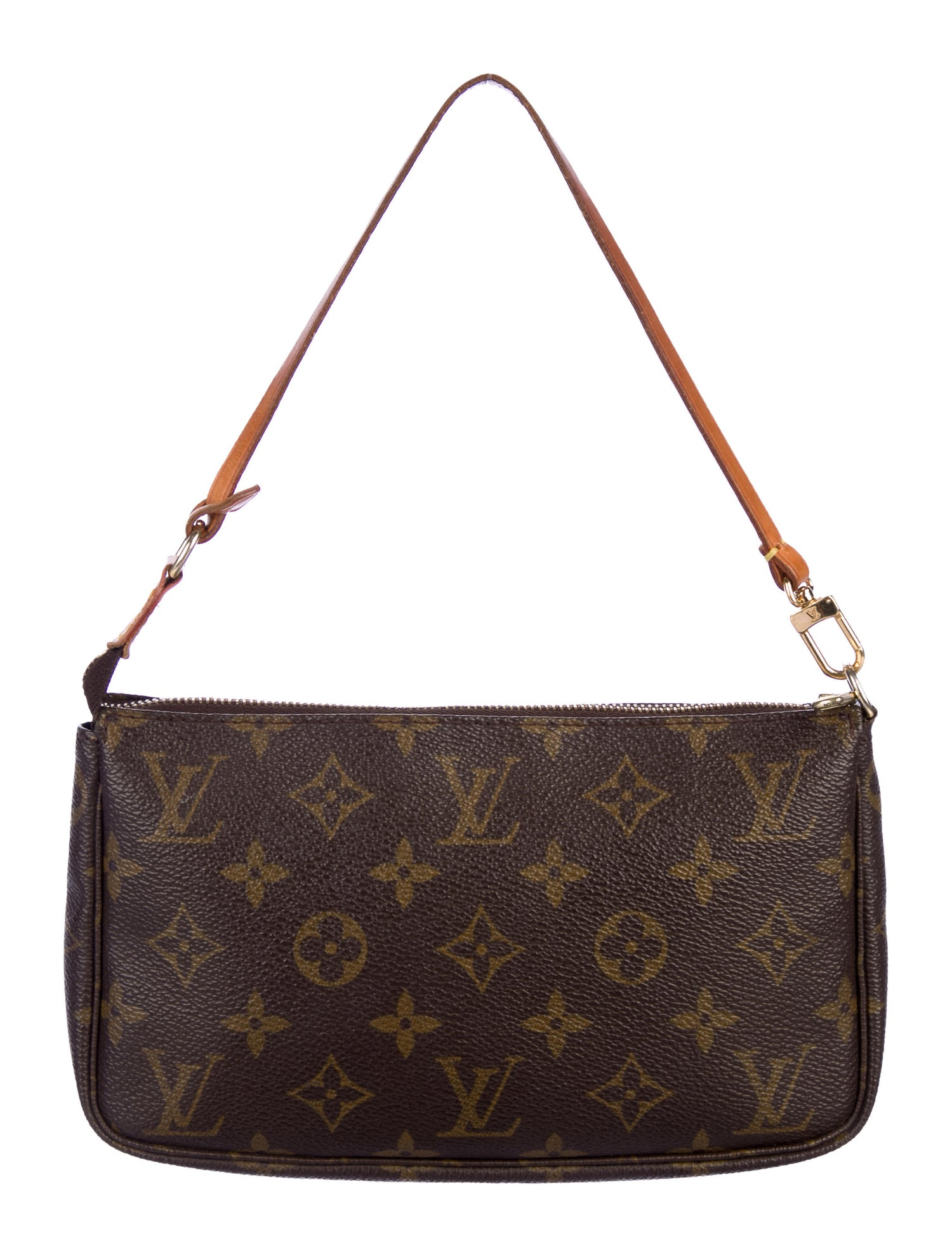Monogram Pochette Accessoires by Louis Vuitton, available on therealreal.com for $485 Bella Hadid Bags Exact Product