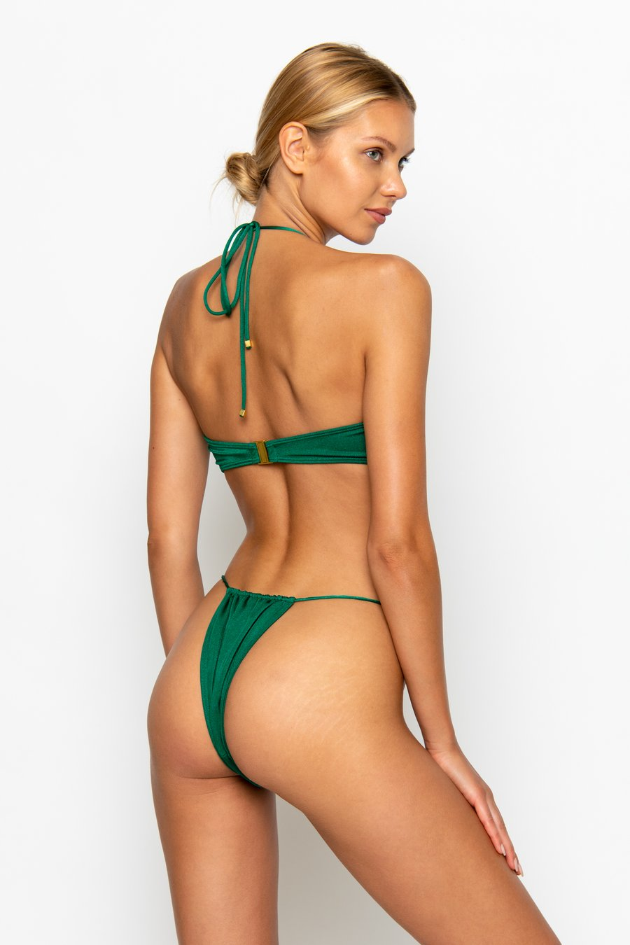 NAOMI Emerald - Tie Side Bikini Bottoms by Sommer Swim, available on sommerswim.com for $69 Bella Hadid Shorts SIMILAR PRODUCT