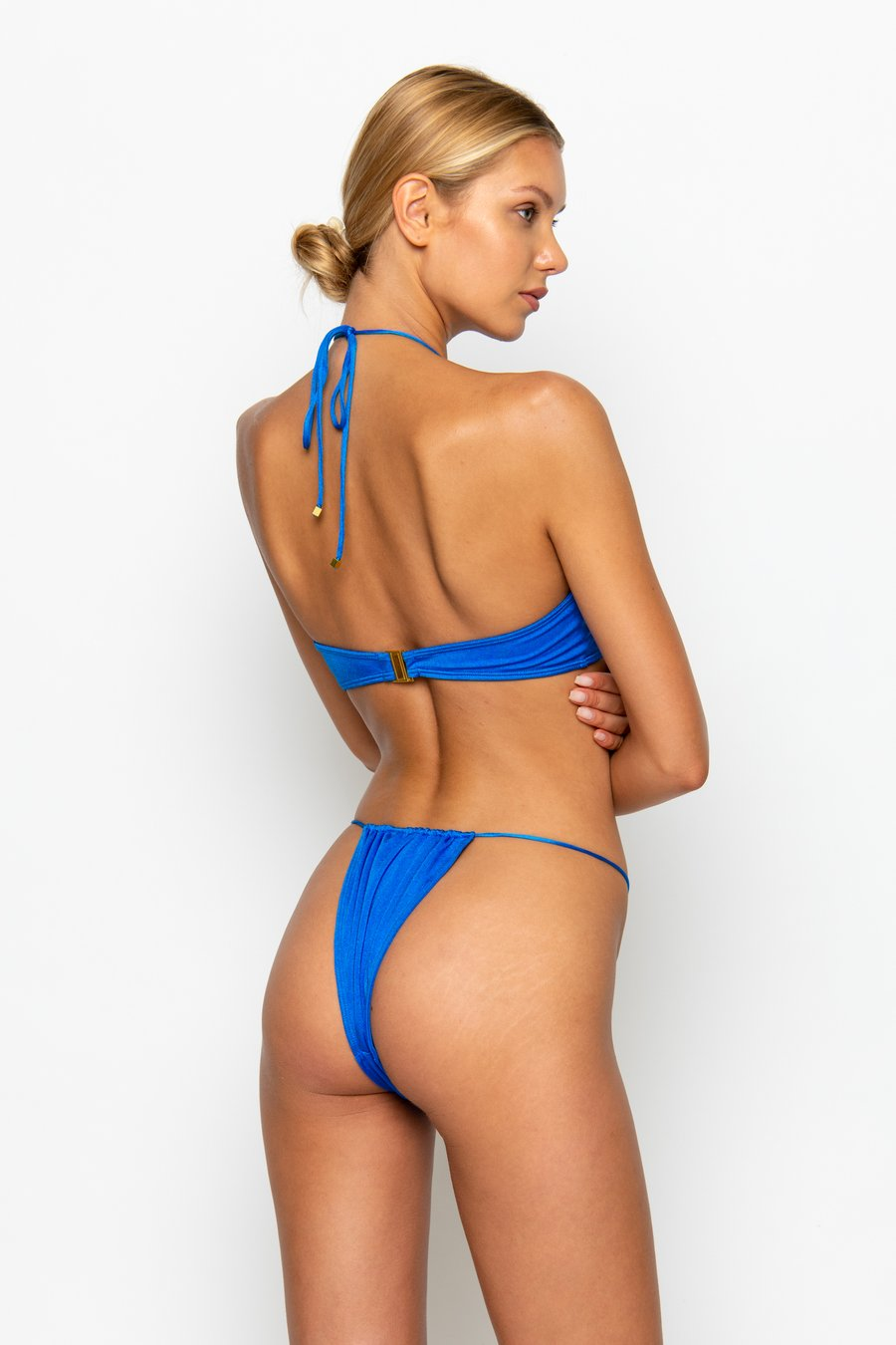 NAOMI Sirius - Tie Side Bikini Bottoms by Sommer Swim, available on sommerswim.com for $69 Bella Hadid Shorts SIMILAR PRODUCT