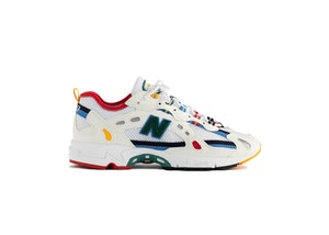 New Balance 827 Abzorb Aime Leon Dore White Multi, available on stockx.com for $330 Bella Hadid Shoes Exact Product