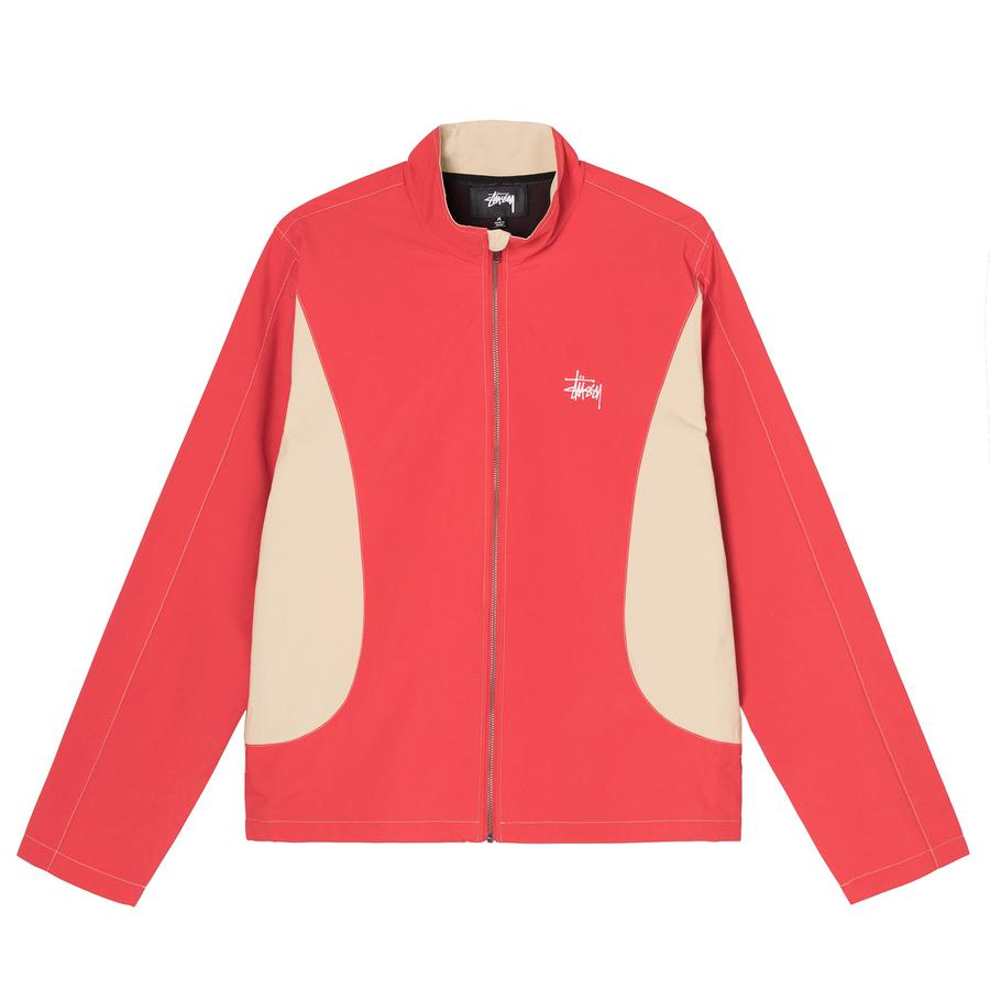 PANEL TRACK JACKET by Stussy, available on stussy.com for $140 Bella Hadid Outerwear Exact Product