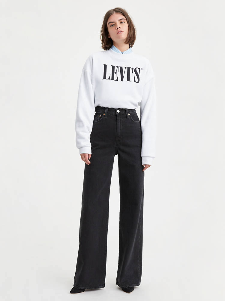 RIBCAGE WIDE LEG WOMEN'S JEANS by Levi's, available on levi.com for $31.98 Bella Hadid Pants Exact Product