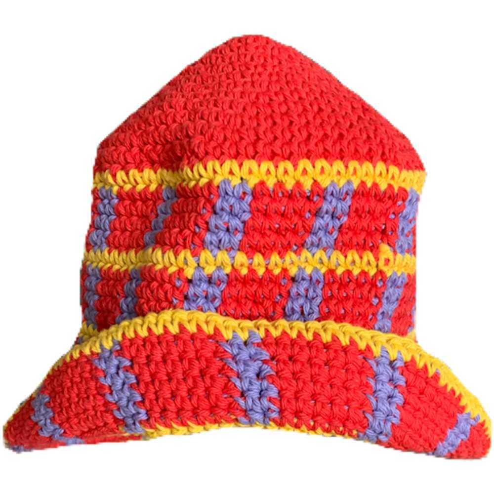 Red Plaid Hat by Memorial Day, available on itsmemorialday.com for $125 Bella Hadid Hat Exact Product