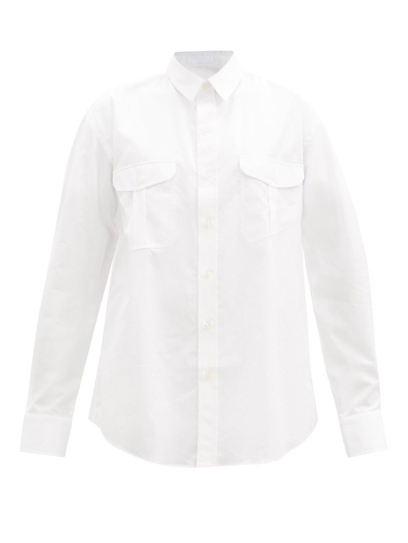 Release 03 oversized cotton-poplin shirt by WARDROBE.NYC, available on matchesfashion.com for $390 Bella Hadid Outerwear Exact Product