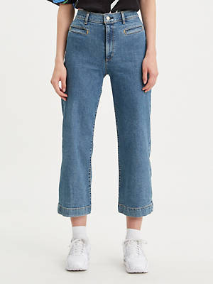 Ribcage Wide Leg Cropped Women's Jeans by Levi's, available on levi.com for $98 Bella Hadid Pants SIMILAR PRODUCT