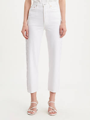 Studded Ribcage Straight Ankle Women's Jeans by Levi's, available on levi.com for $98 Bella Hadid Pants SIMILAR PRODUCT