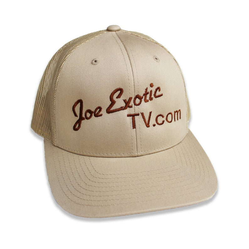 TV.com Tiger King Trucker Hat by Joe Exotic, available on etsy.com for $22.99 Bella Hadid Hat Exact Product