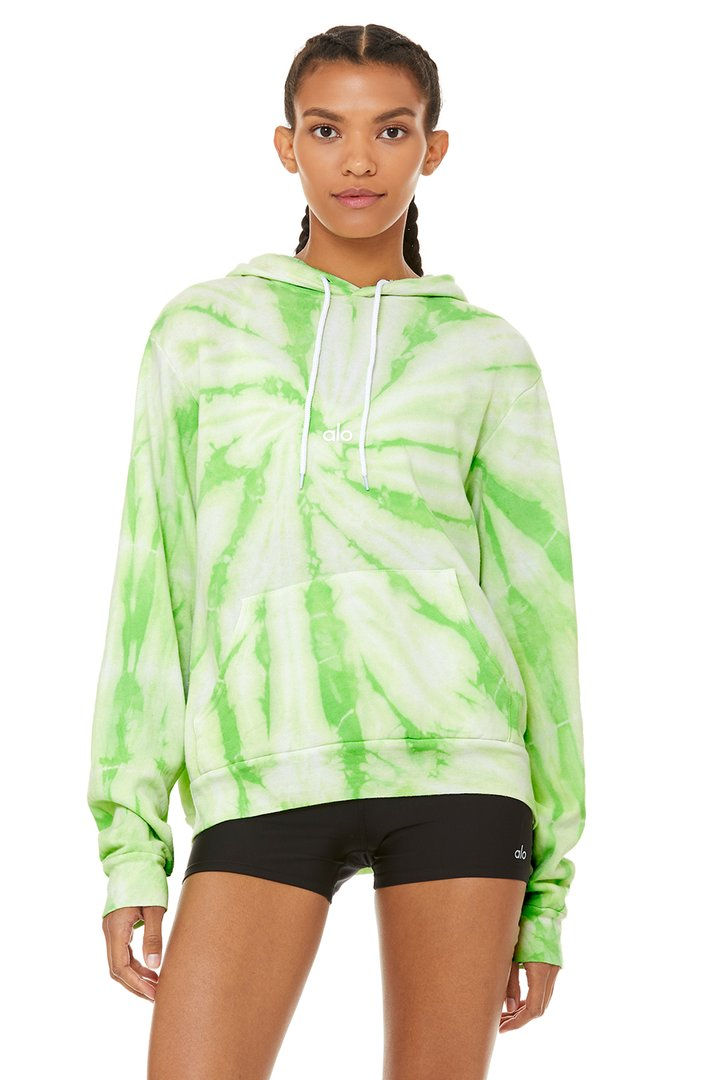 Unisex Tie-Dye Hoodie by Alo Yoga, available on aloyoga.com for $108 Bella Hadid Outerwear SIMILAR PRODUCT