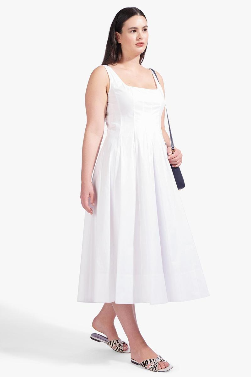WELLS DRESS  WHITE by Staud for $285 Bella Hadid Dress SIMILAR PRODUCT