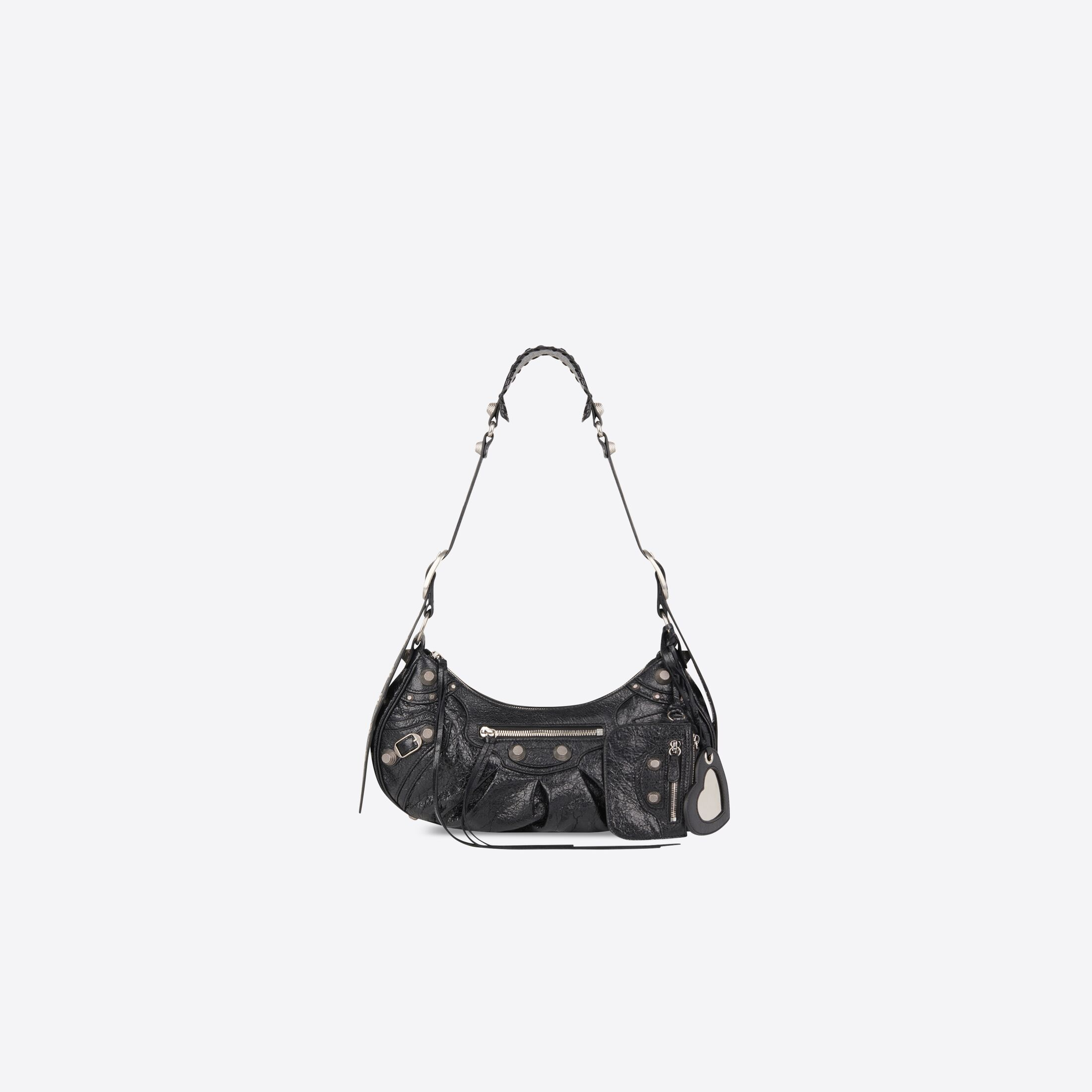 WOMEN'S LE CAGOLE SMALL SHOULDER BAG IN BLACK by Balenciaga, available on balenciaga.com for $1850 Bella Hadid Bags Exact Product
