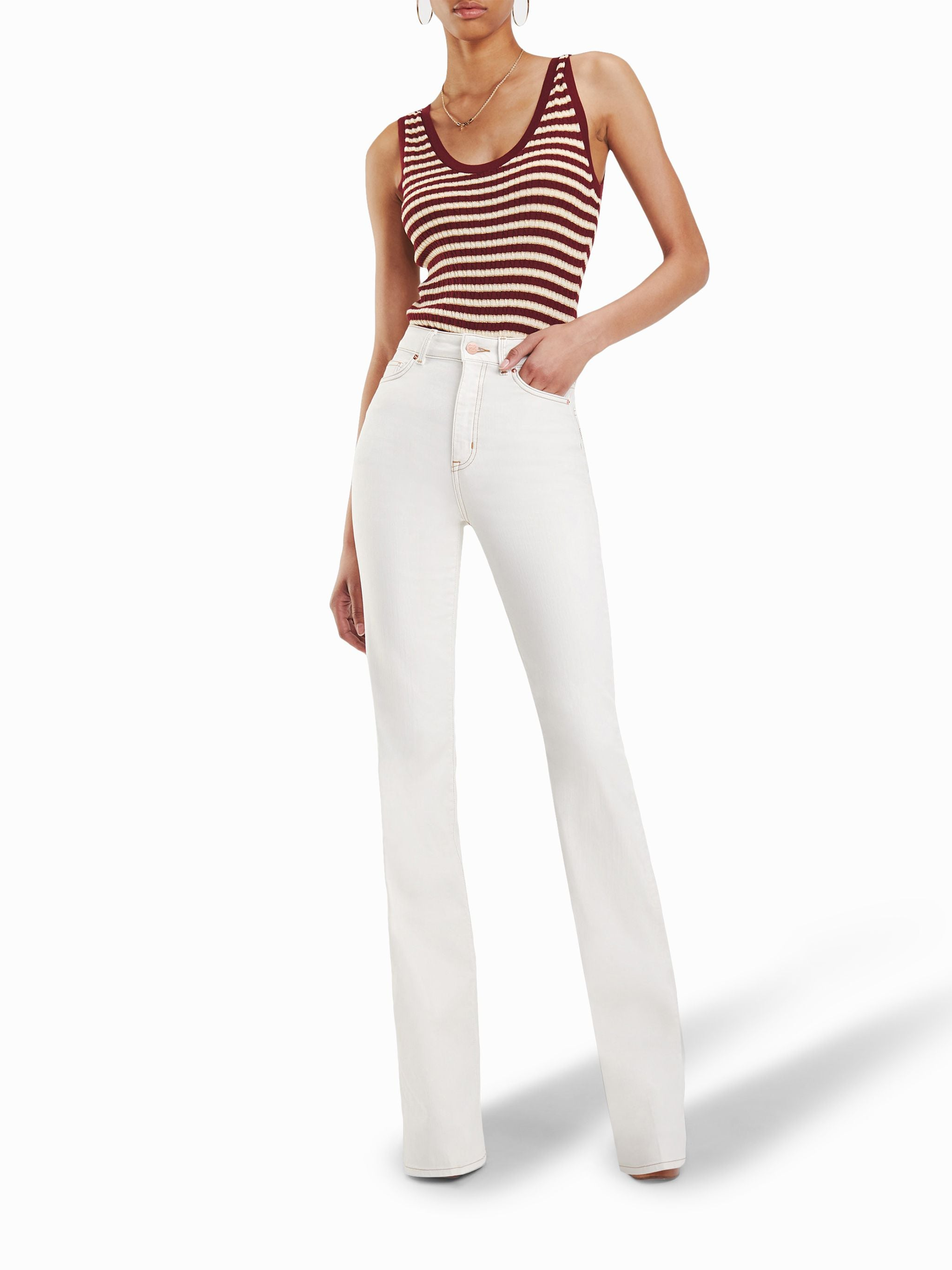 x Zendaya Leather Flare Pants by Tommy Hilfiger, available on eraldo.com Bella Hadid Pants Exact Product