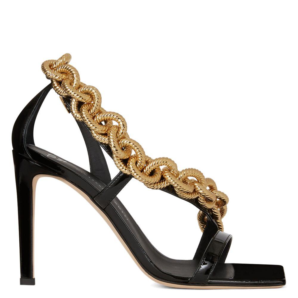 Agata by Giuseppe Zanotti, available on giuseppezanotti.com for $1495 Candice Swanepoel Shoes Exact Product