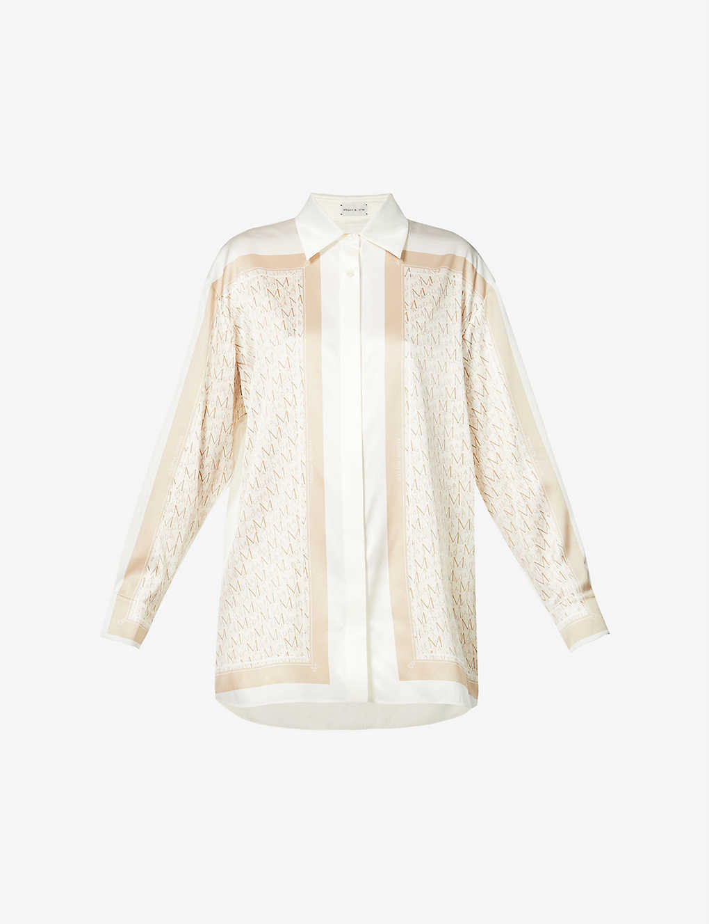 Branded stretch-silk shirt by MAGDA BUTRYM, available on selfridges.com for $1005 Candice Swanepoel Top Exact Product