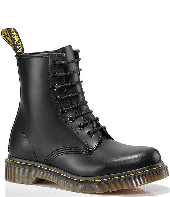 Women's 1460 Smooth Leather Combat Boots by Dr.-Martens, available on dillards.com for $164.47 Candice Swanepoel Shoes Exact Product