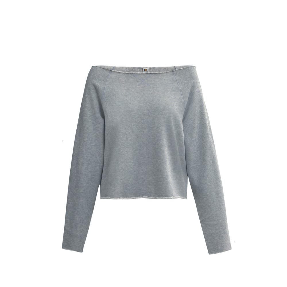 sweatC top in grey by Tropic of C, available on tropicofc.com for $88 Candice Swanepoel Top Exact Product