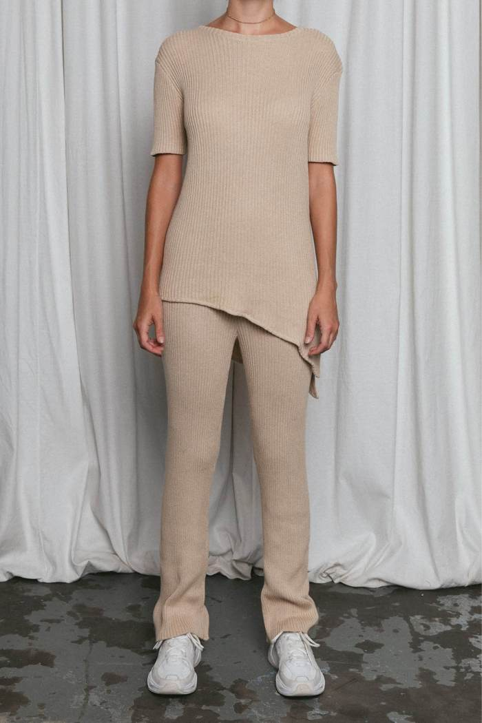 PASCALE KNIT PANT CARAMEL by Isabelle-Quinn, available on isabellequinn.com.au for $120 Chantel Jeffries Pants Exact Product
