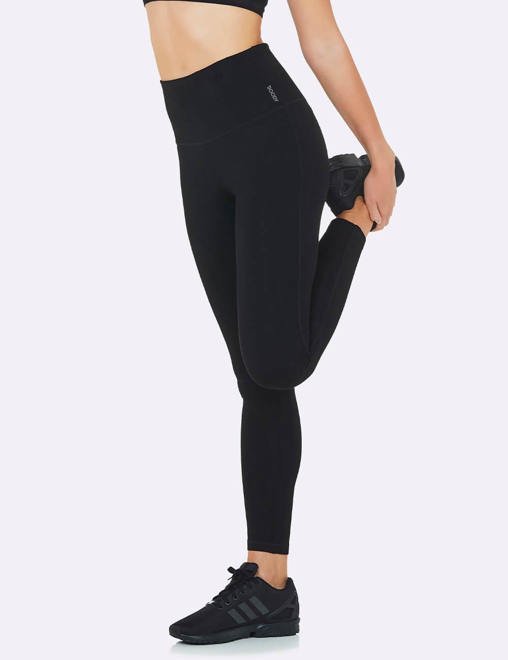 Active Blended High-Waisted Full Leggings by Boody, available on boodywear.com for $71.95 Elsa Hosk Pants Exact Product