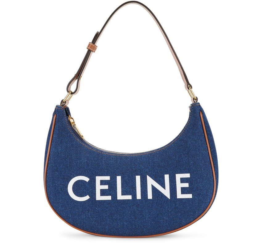 Ava Bag in Denim and Calfskin by CELINE, available on 24s.com for $1550 Elsa Hosk Bags Exact Product