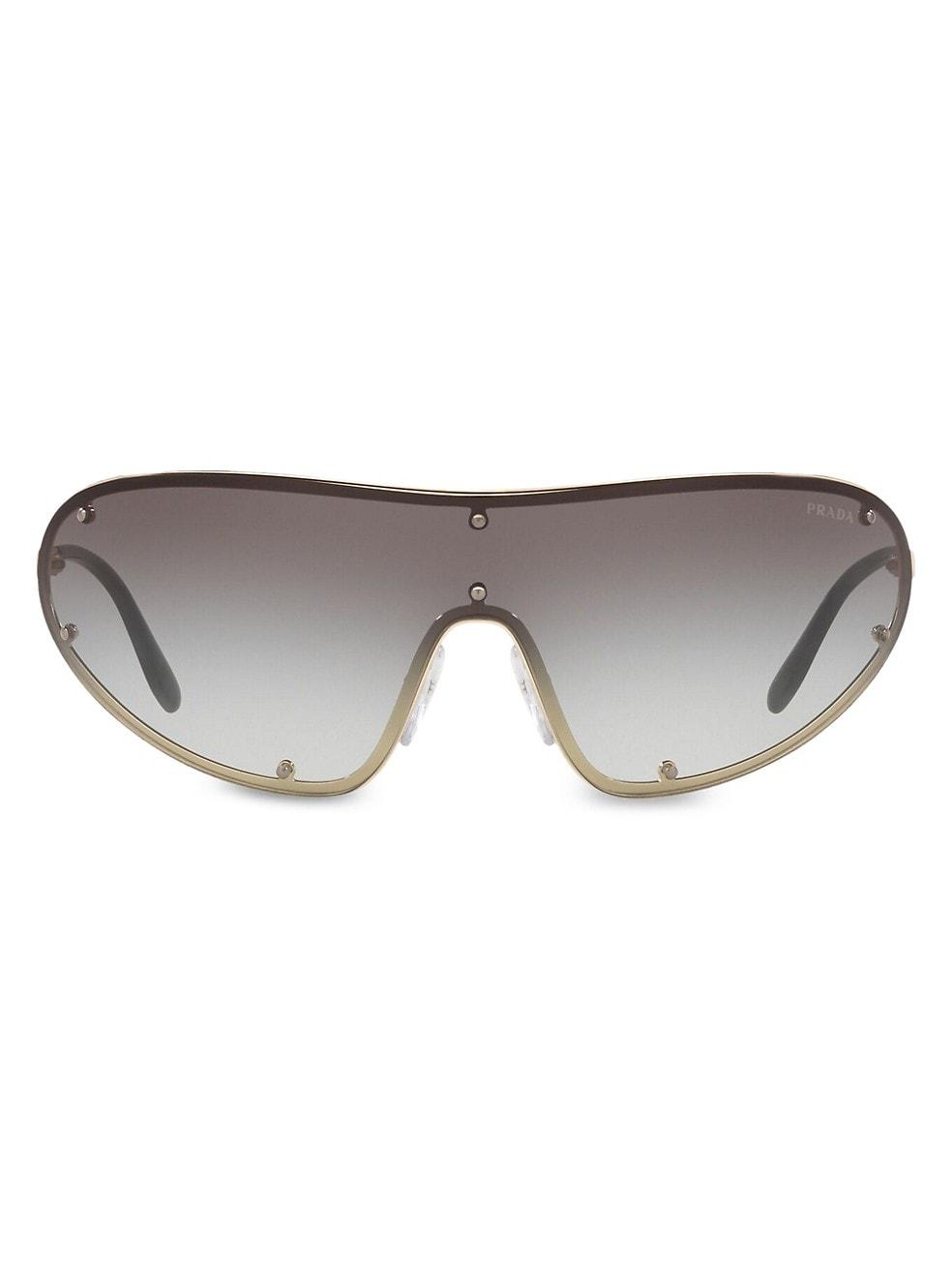 Catwalk Shield Sunglasses by Prada, available on saksfifthavenue.com Elsa Hosk Sunglasses Exact Product
