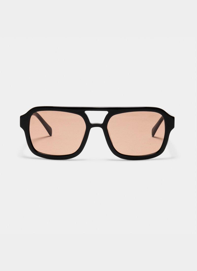DIXIE  BLACK/TOFFEE by VEHLA EYEWEAR, available on vehlaeyewear.com for $164.42 Elsa Hosk Sunglasses Exact Product