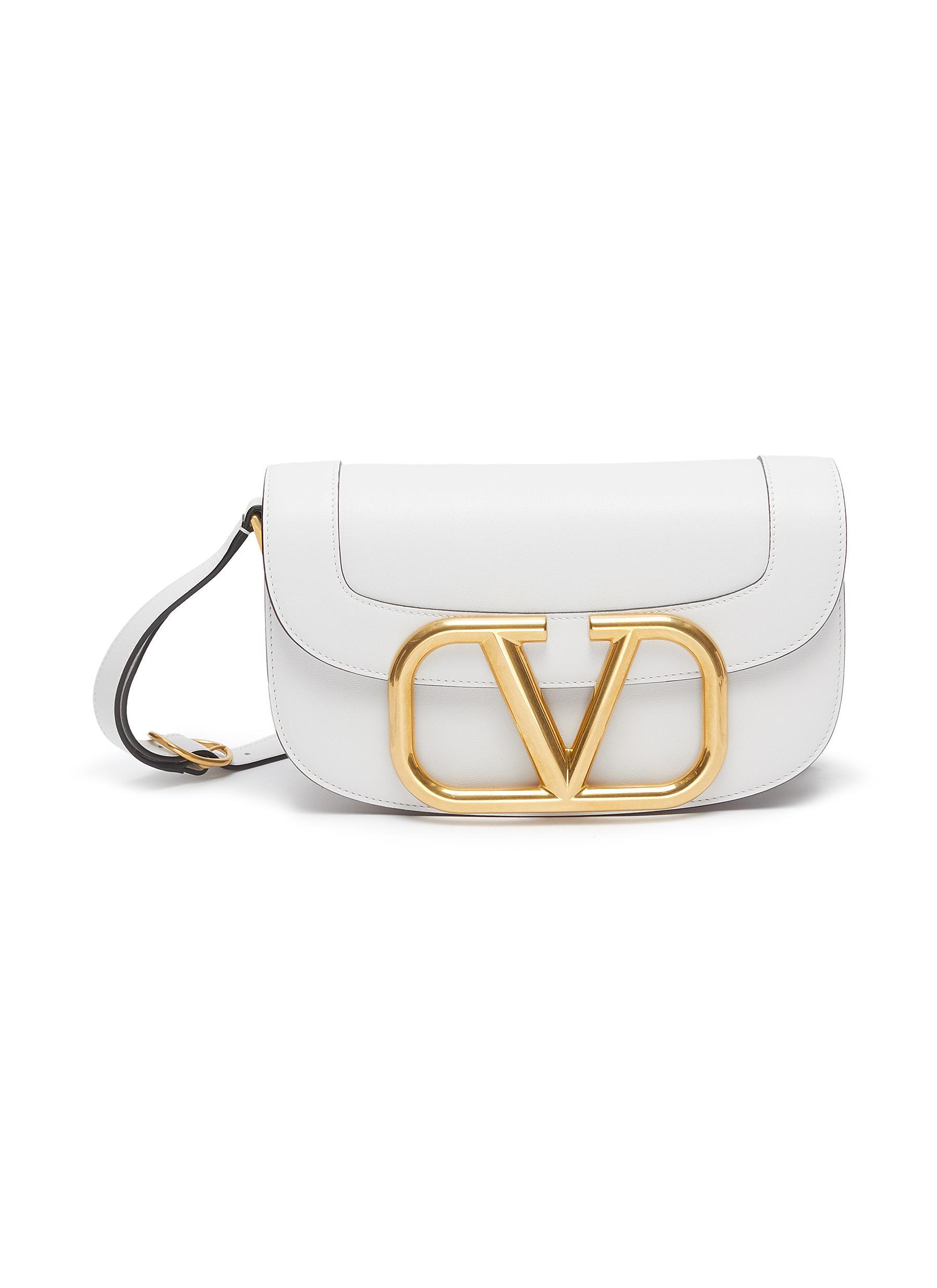 GARAVANI VLOGO LEATHER SHOULDER BAG by Valentino, available on lanecrawford.com for $2 Elsa Hosk Bags Exact Product