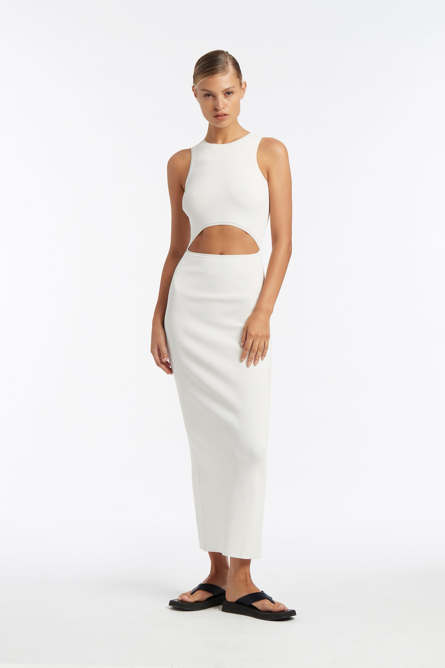 INGRID CUT OUT MIDI DRESS by sir, available on sirthelabel.com for $330 Elsa Hosk Dress Exact Product