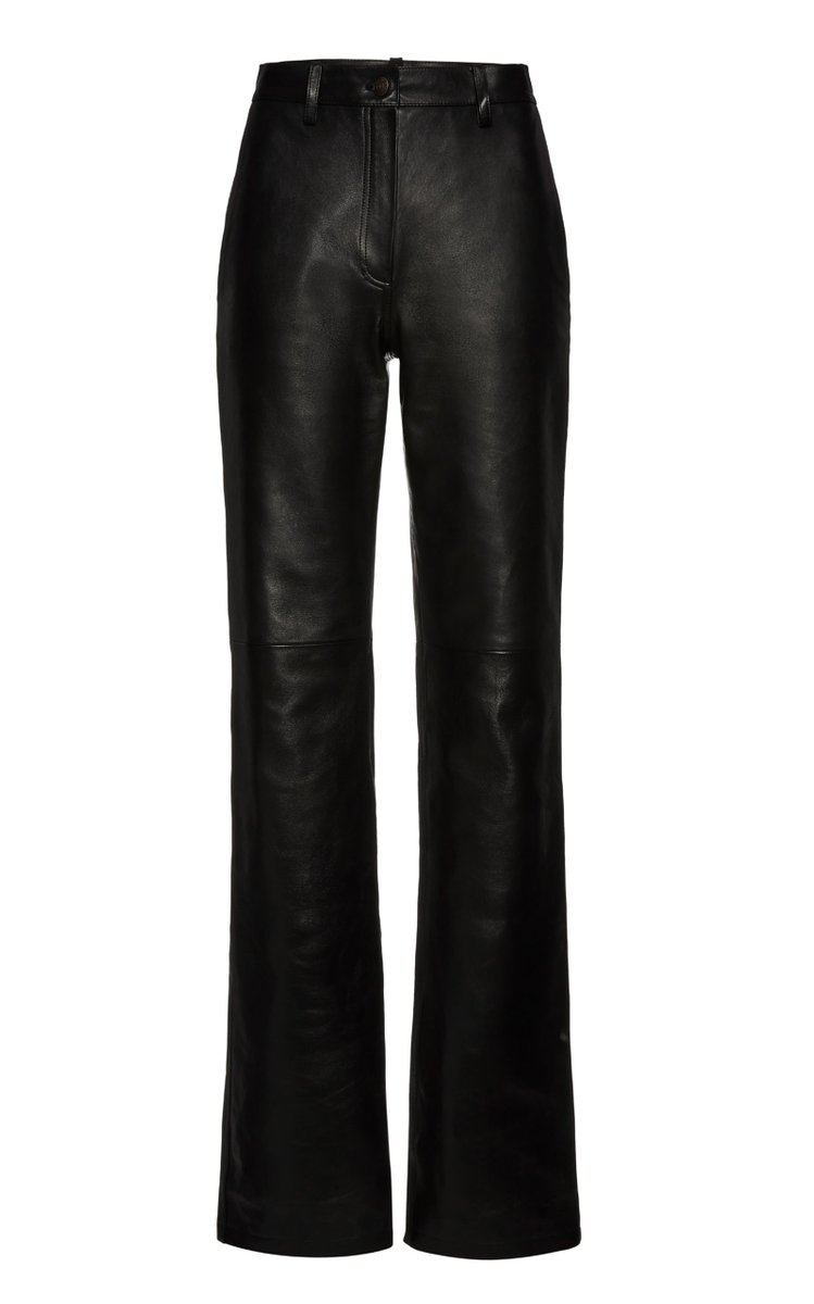 Leather Flared Trousers by Magda Butrym, available on modaoperandi.com for $2505 Elsa Hosk Pants Exact Product
