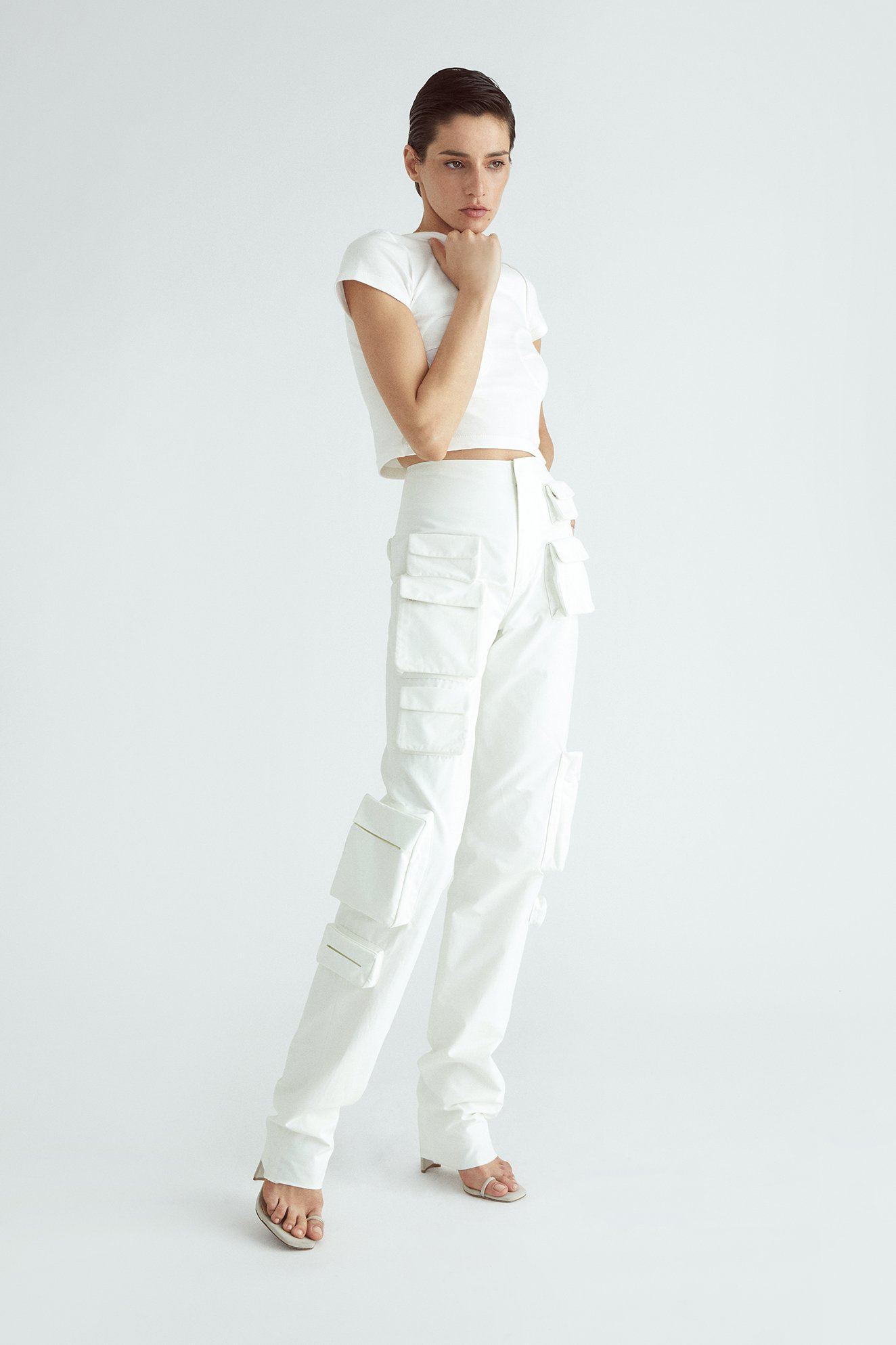 POCKET PANT ECRU by Orseund ris, available on orseundiris.com for $645 Elsa Hosk Pants Exact Product