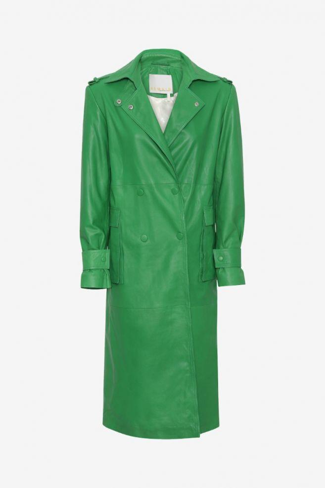 Pirene Coat Green by Birger Christensen, available on birger-christensen.com for $859.1 Elsa Hosk Outerwear Exact Product