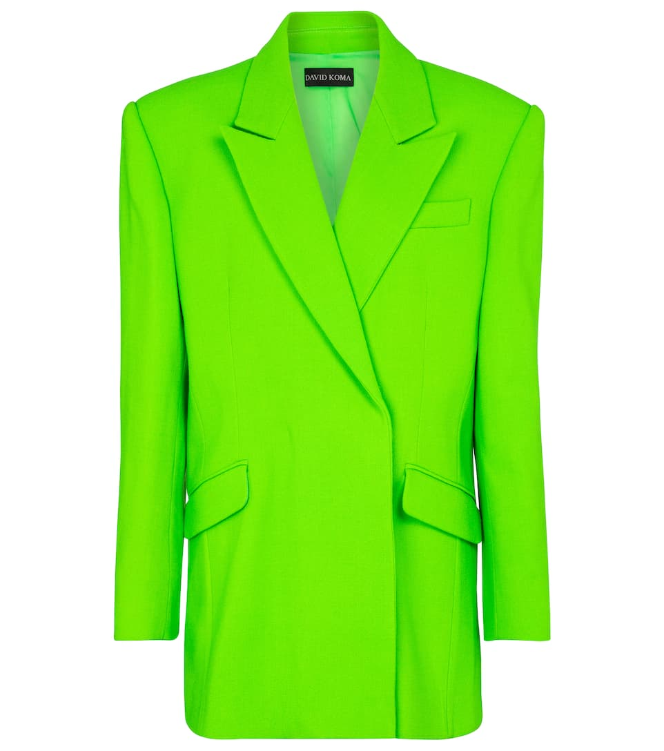 Stretch wool-blend blazer by DAVID KOMA, available on mytheresa.com for EUR1795 Elsa Hosk Outerwear Exact Product