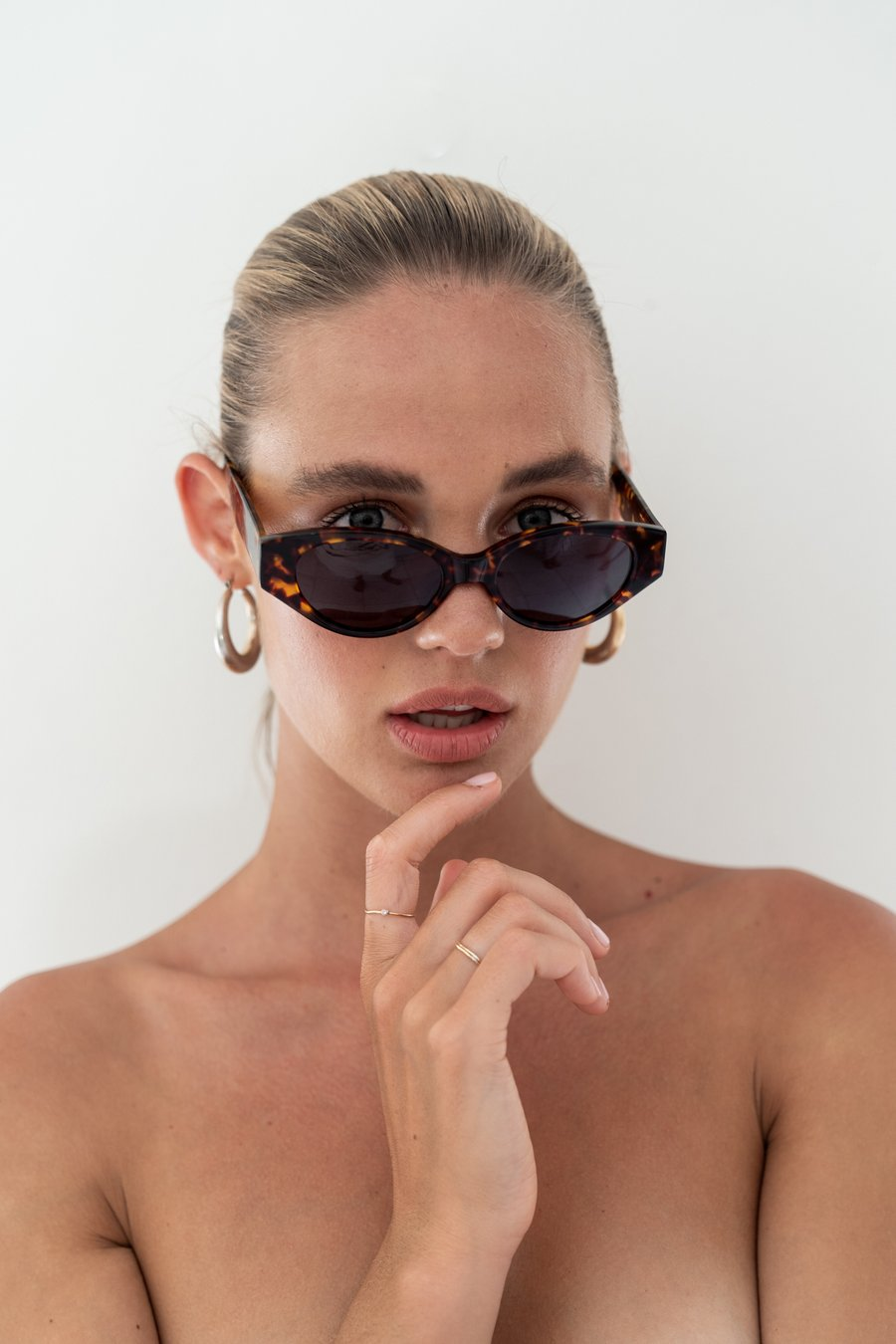 The Joanie - Tort by LUV LOU, available on luvlou.com.au for $110 Elsa Hosk Sunglasses Exact Product