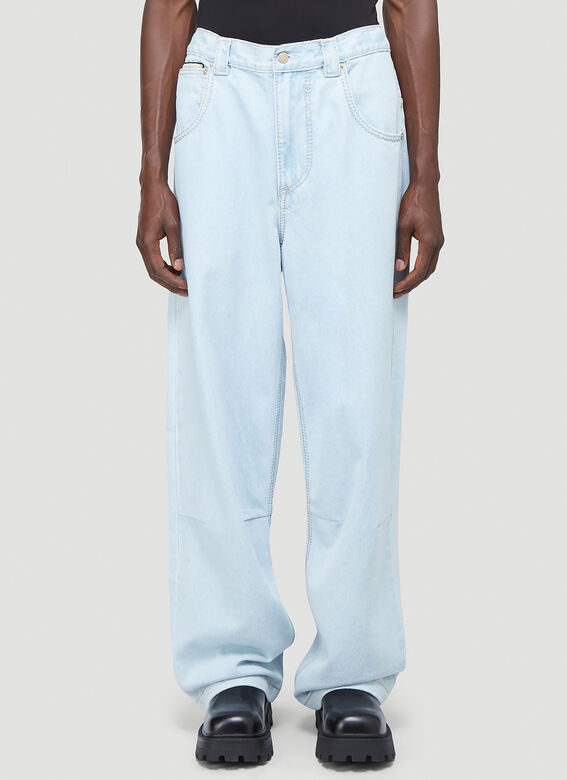 Titan Jeans in Blue by Eytys, available on ln-cc.com for EUR154 Elsa Hosk Pants Exact Product