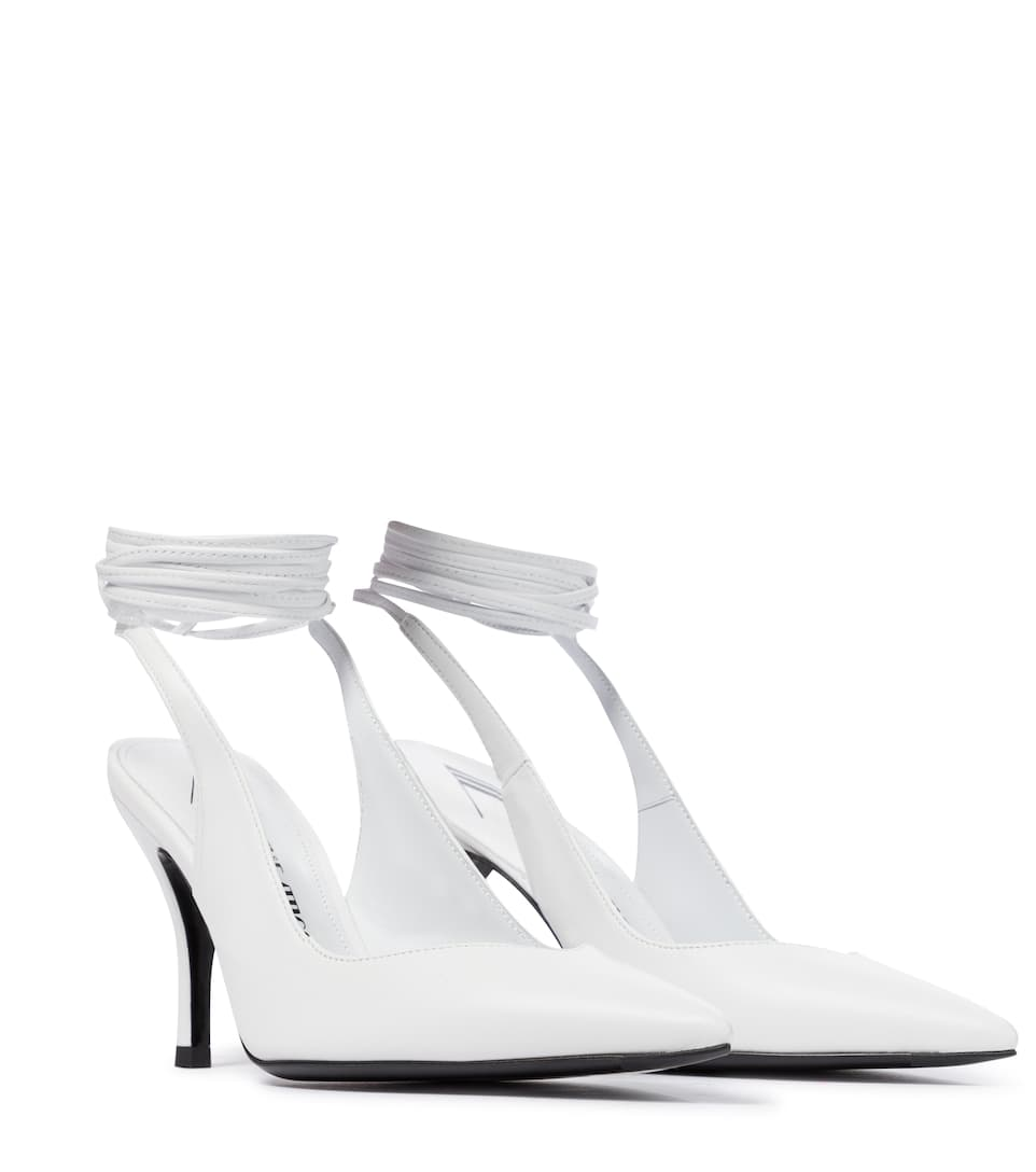 Venus 85 leather sandals by THE ATTICO, available on mytheresa.com for EUR595 Elsa Hosk Shoes Exact Product