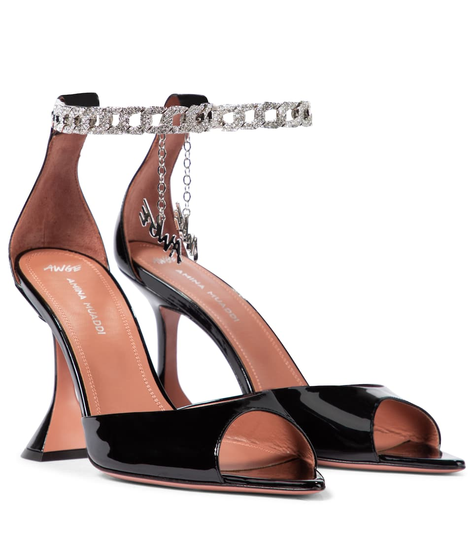 x AWGE Flacko patent leather sandals by AMINA MUADDI, available on mytheresa.com for EUR1250 Elsa Hosk Shoes Exact Product