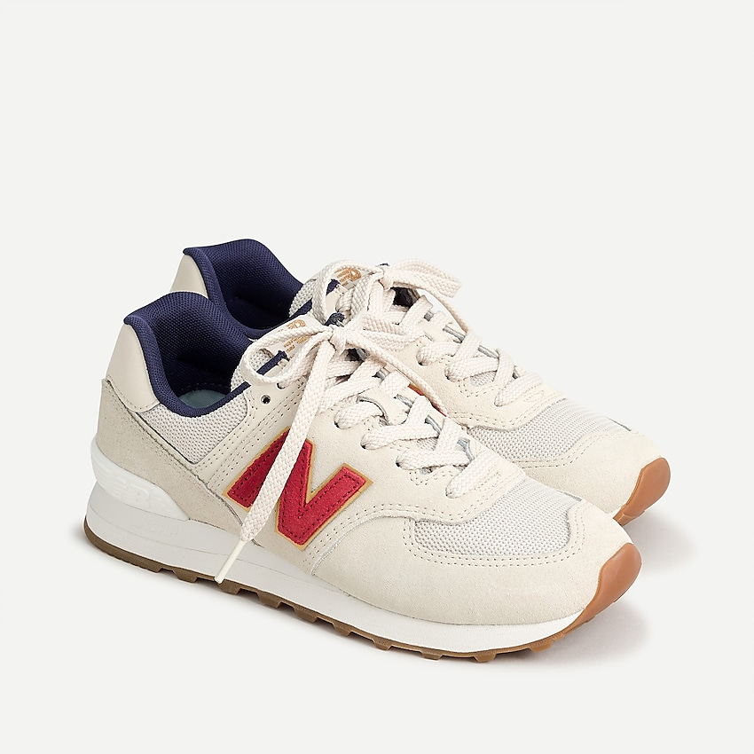 574 sneakers by New Balance, available on jcrew.com for $100 Emily Ratajkowski Shoes Exact Product
