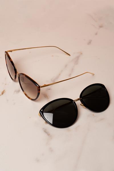 965 C2 Sunglasses by Linda Farrow, available on lindafarrow.com for $430 Emily Ratajkowski Sunglasses Exact Product