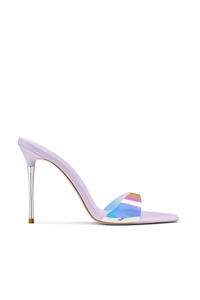 Azúcar Slipper - Lavender by FEMME SHOES, available on femme.la for $184 Emily Ratajkowski Shoes Exact Product