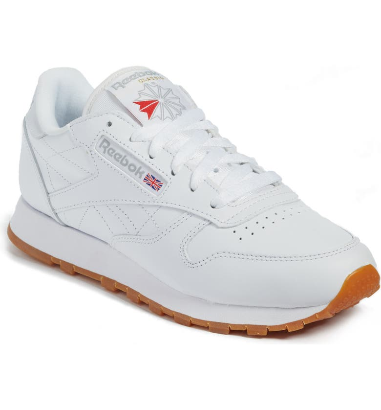 Classic Leather Sneaker by REEBOK, available on nordstrom.com for $75 Emily Ratajkowski Shoes Exact Product