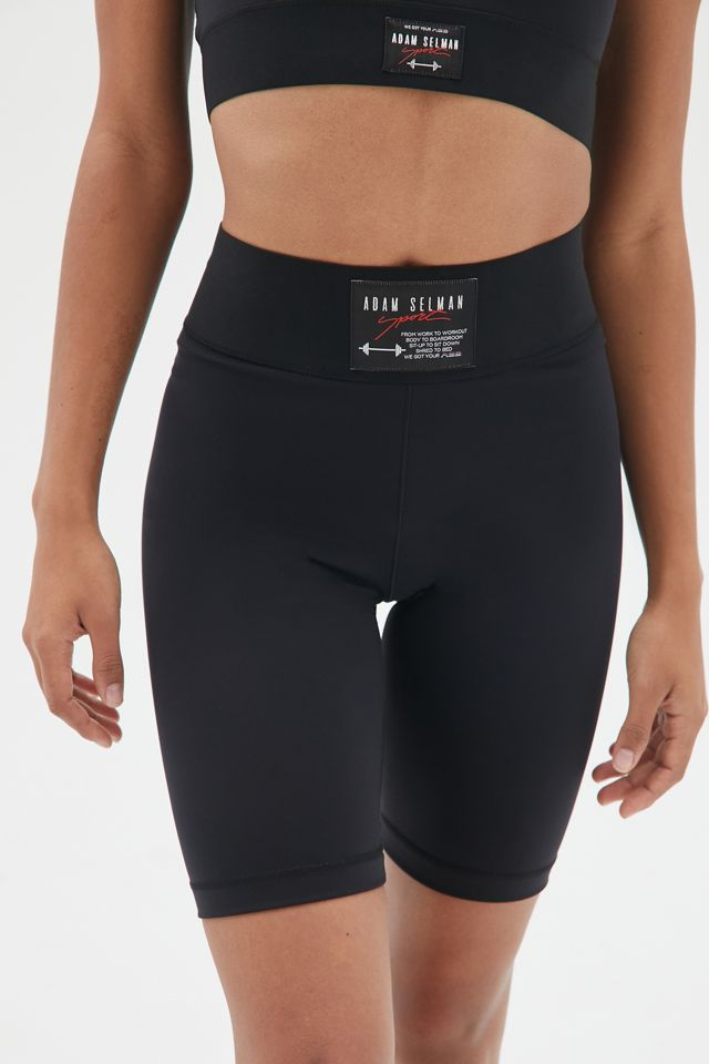 Foundation High-Waisted Bike Short by Adam Selman Sport, available on urbanoutfitters.com for $95 Emily Ratajkowski Shorts Exact Product