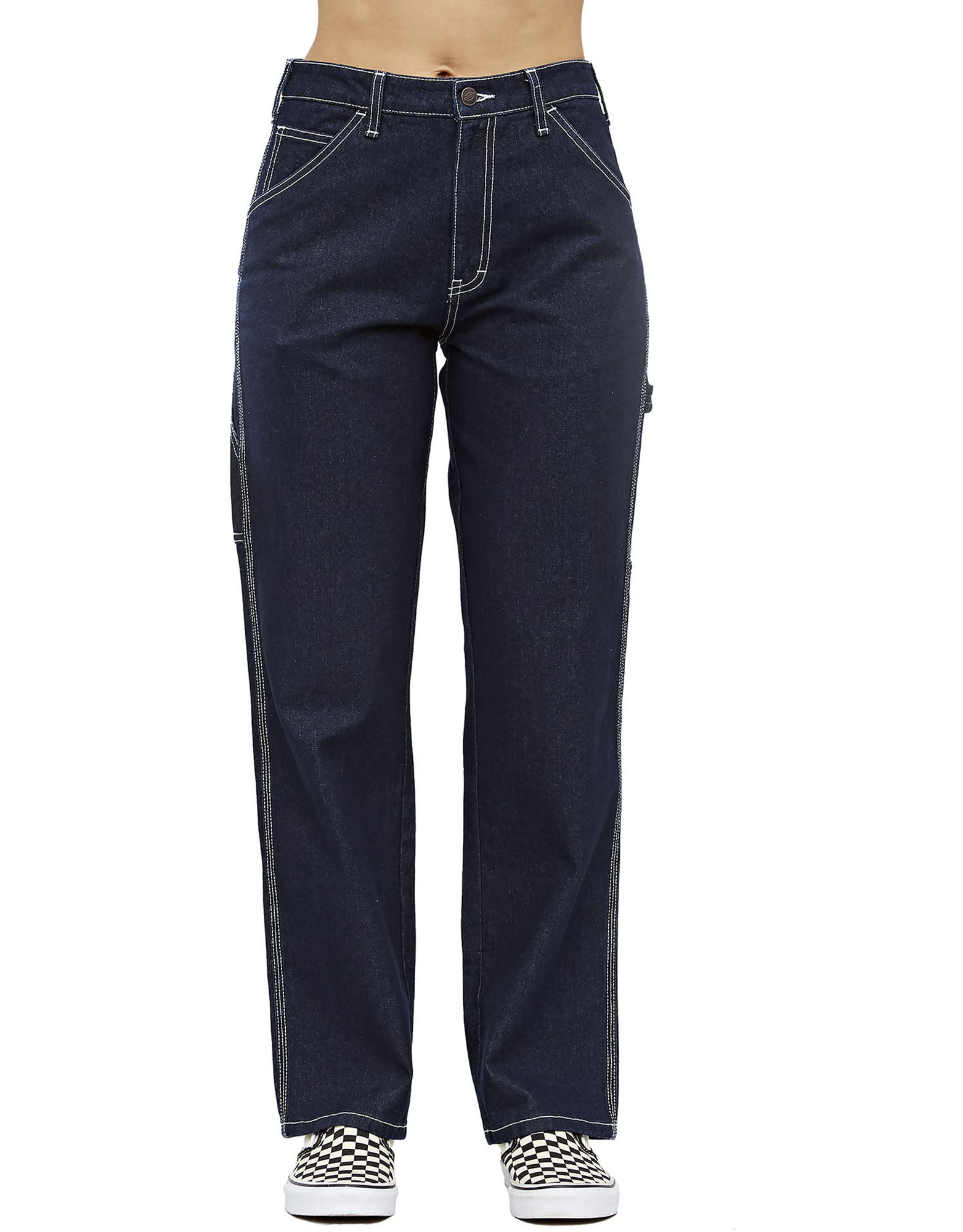 Girl Juniors' Relaxed Fit Carpenter Jeans by Dickies, available on dickies.com for $59.99 Emily Ratajkowski Pants Exact Product