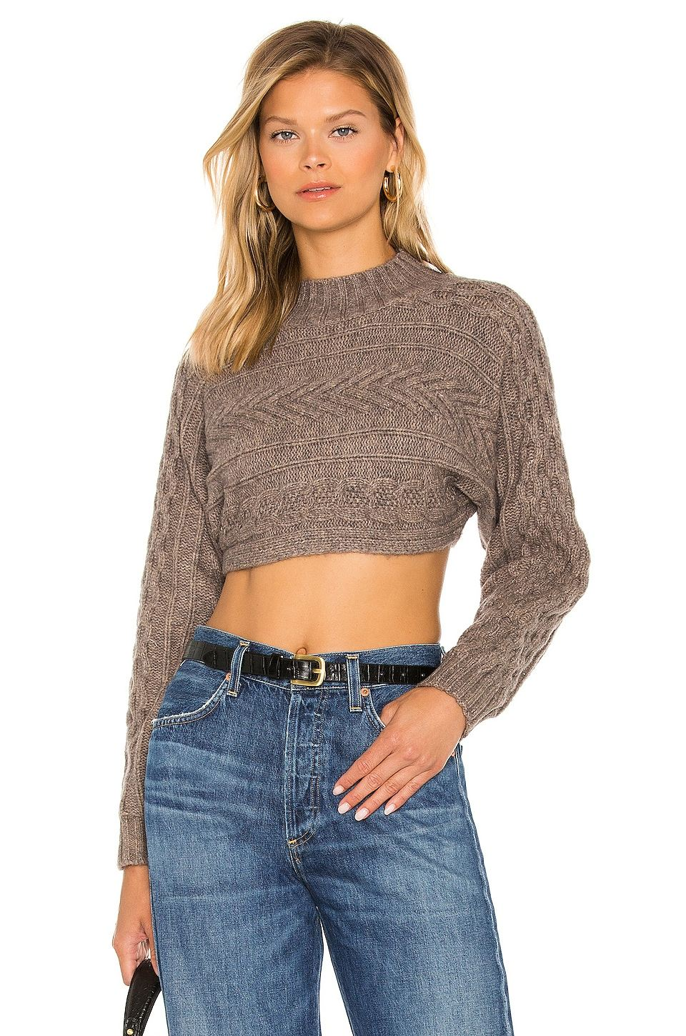 Mila Ultra Crop Sweater by Superdown, available on revolve.com for $78 Emily Ratajkowski Top Exact Product