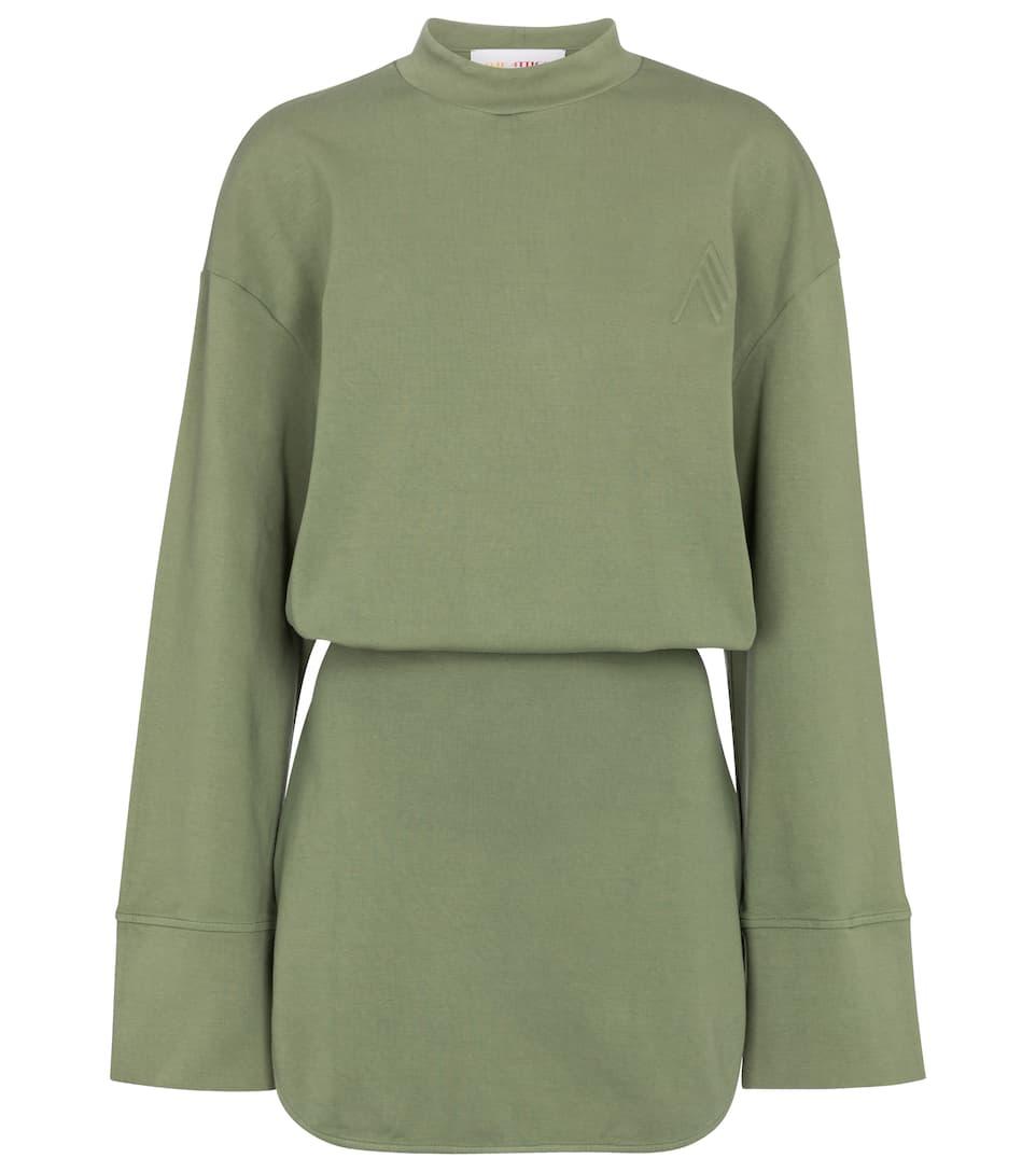 Palmer cotton sweatshirt dress by THE ATTICO, available on mytheresa.com for EUR290 Emily Ratajkowski Dress Exact Product