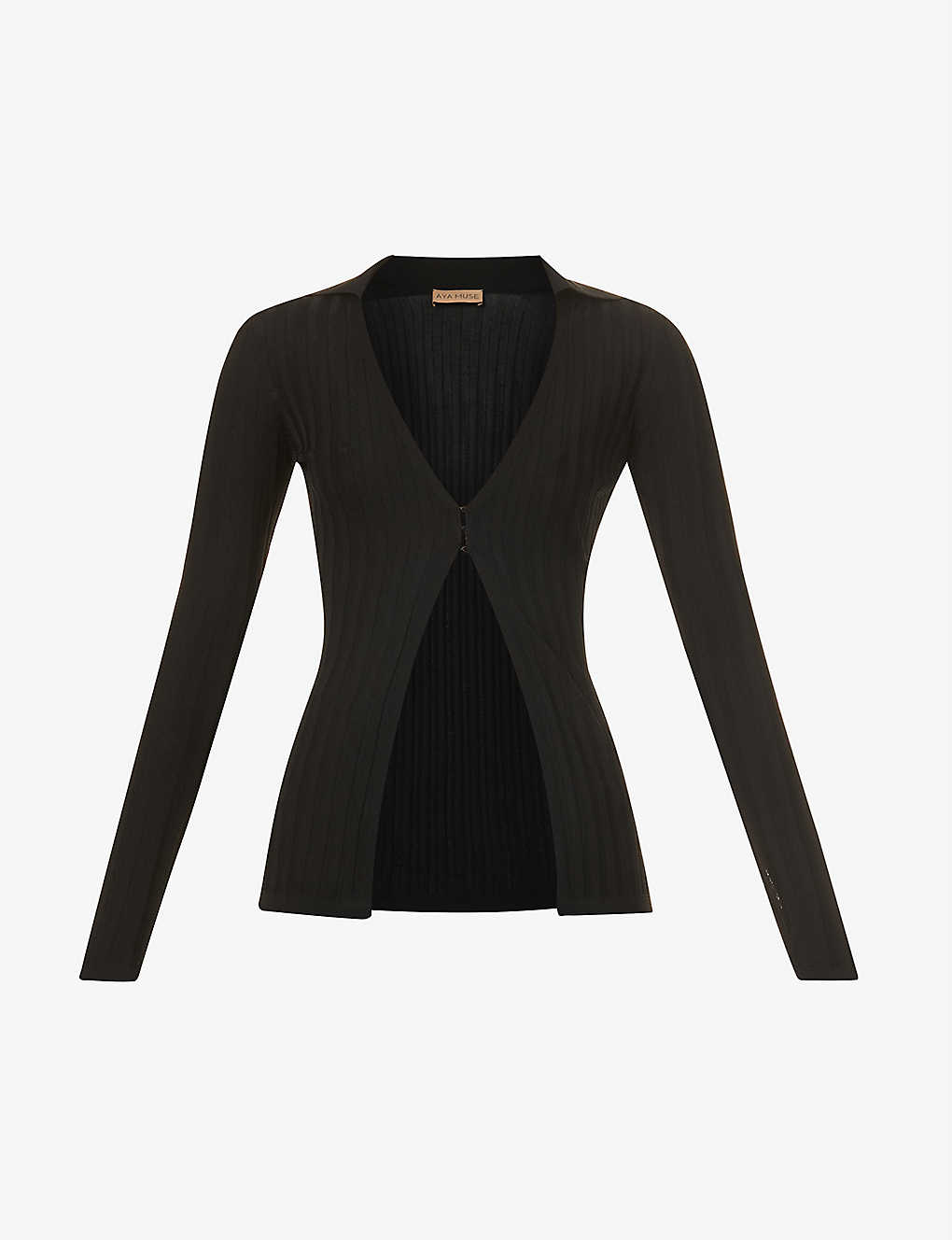 Remi open-front stretch-knit top by Aya Muse, available on selfridges.com for $250 Emily Ratajkowski Top Exact Product