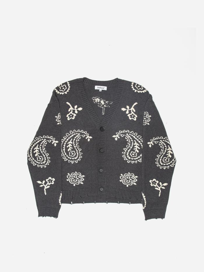 CARDIGAN SWEATER IN DARK GRAY by KNIT PAISLEY, available on profoundco.com for $130 Gigi Hadid Outerwear Exact Product