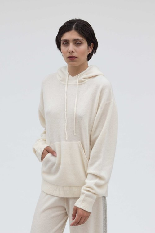 Cashmere Hoodie by Mandkhai, available on mandkhai.com for £495 Gigi Hadid Outerwear Exact Product